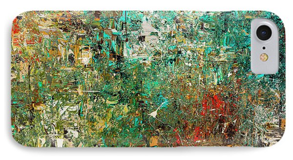 IPhone Case featuring the painting Discovery - Abstract Art by Carmen Guedez