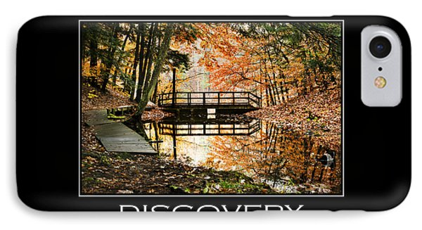 Discovery Inspirational Motivational Poster Art Phone Case by Christina Rollo