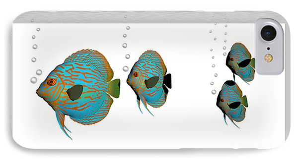 Discus Fish Phone Case by Corey Ford