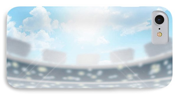 Discus Stadium And Green Turf IPhone Case by Allan Swart