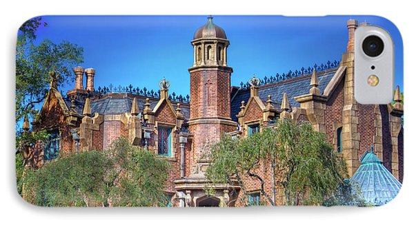 Disney World Haunted Mansion  IPhone Case by Mark Andrew Thomas