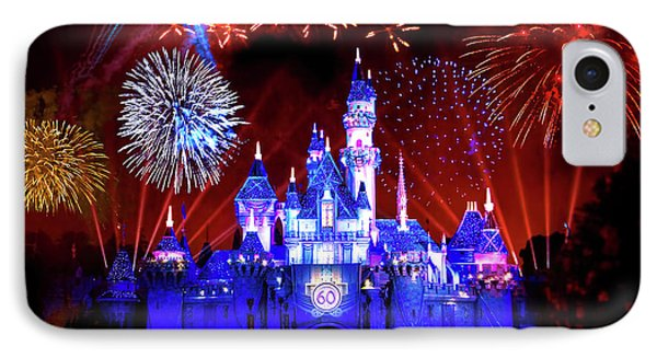 Disneyland 60th Anniversary Fireworks IPhone Case by Mark Andrew Thomas