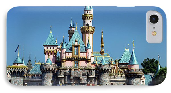 IPhone Case featuring the photograph Disneyland Castle by Mariola Bitner