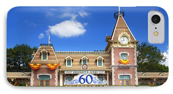 IPhone Case featuring the photograph Disneyland Entrance by Mark Andrew Thomas