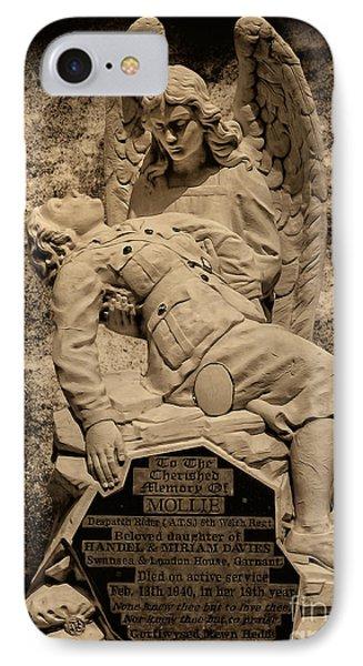 IPhone Case featuring the photograph Dispatch Rider Memorial by Nigel Fletcher-Jones