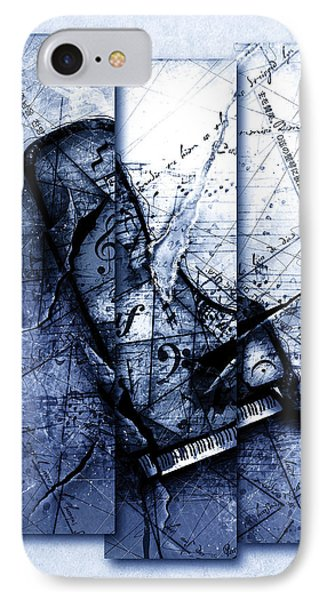 Dissonance In Blue IPhone Case by Gary Bodnar