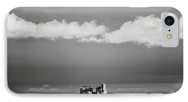 Distant Grain Elevator IPhone Case by Todd Klassy