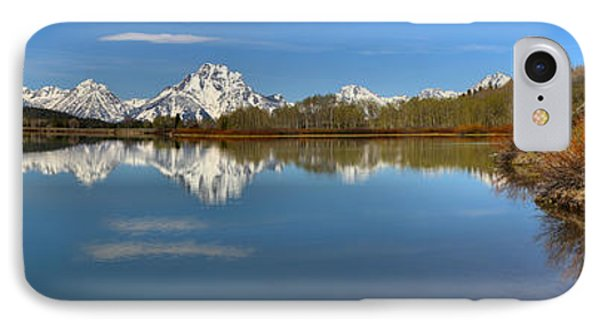 Distant Mt. Moran Reflections IPhone Case by Adam Jewell