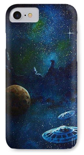 Distant Nebula Phone Case by Murphy Elliott