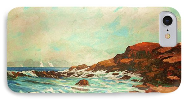 Distant Sails Of The Cove IPhone Case by Al Brown