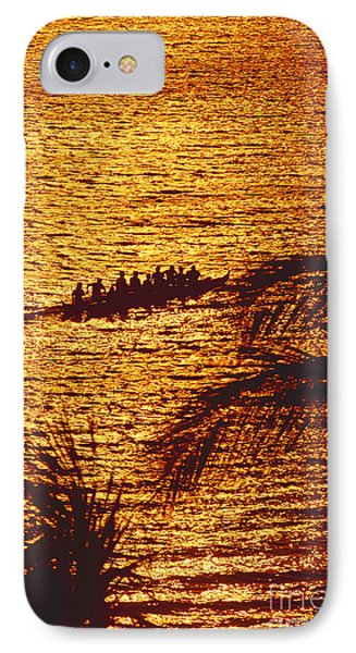Distant View Of Outrigger Phone Case by Ron Dahlquist - Printscapes