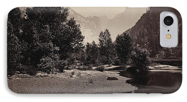 Distant View Of The Domes, Yosemite Valley, California IPhone Case