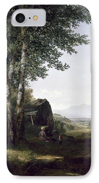 Distant View Of The Mansfield Mountain Vermont IPhone Case by John Frederick Kensett