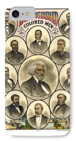 Distinguished Colored Men   1883 Phone Case by Daniel Hagerman