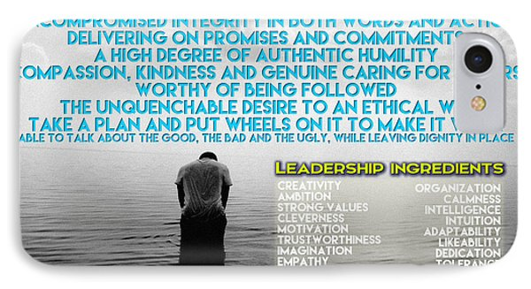 Distinguishing Qualities That Define True Leaders IPhone Case by Celestial Images