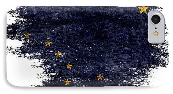 Distressed Alaska Flag IPhone Case by Jon Neidert