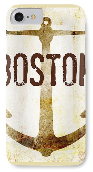 Distressed Boston Anchor IPhone Case