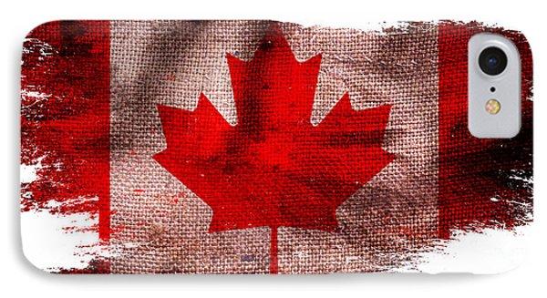 Distressed Canada Flag IPhone Case by Jon Neidert