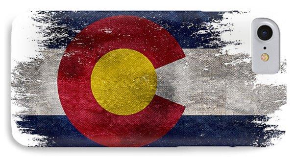 Distressed Colorado Flag IPhone Case