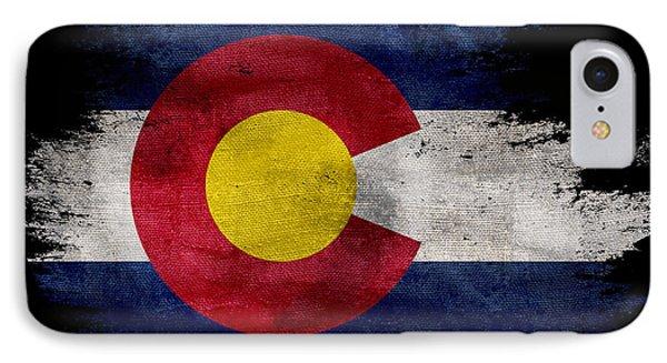 Distressed Colorado Flag On Black IPhone Case