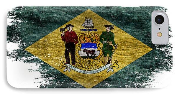 Distressed Delaware Flag IPhone Case by Jon Neidert
