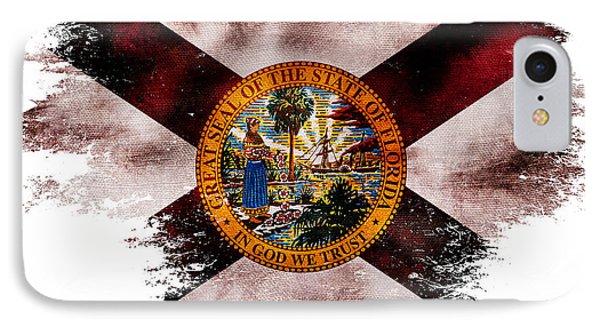 Distressed Florida Flag IPhone Case by Jon Neidert