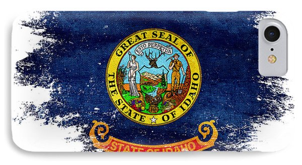 Distressed Idaho Flag IPhone Case