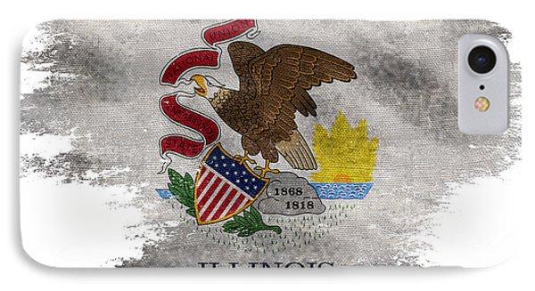 Distressed Illinois Flag IPhone Case