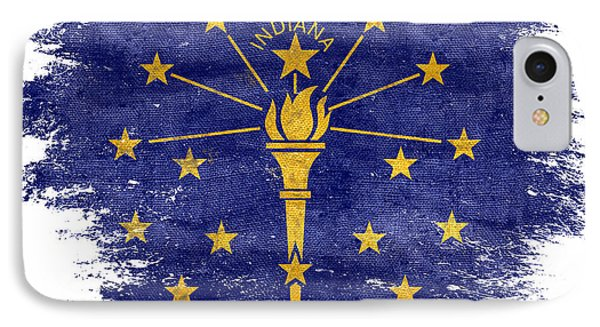 Distressed Indiana Flag IPhone Case