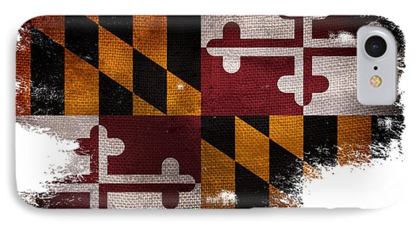 Distressed Maryland Flag IPhone Case by Jon Neidert