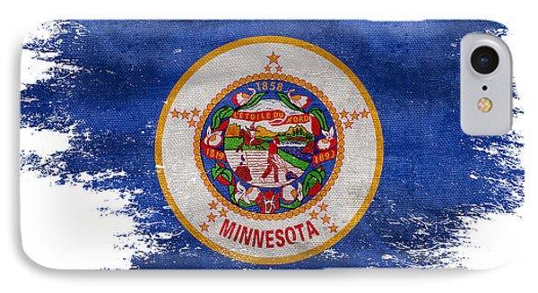 Distressed Minnesota Flag IPhone Case