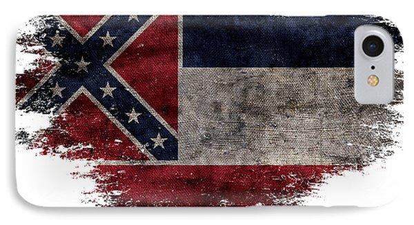 Distressed Mississippi Flag IPhone Case by Jon Neidert