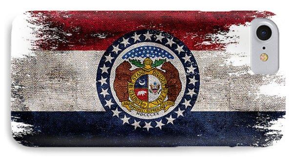 Distressed Missouri Flag IPhone Case by Jon Neidert