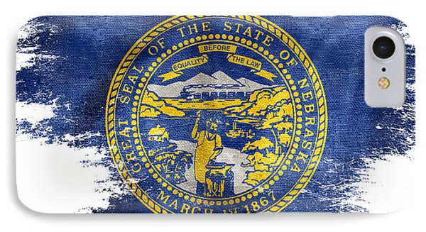 Distressed Nebraska Flag  IPhone Case