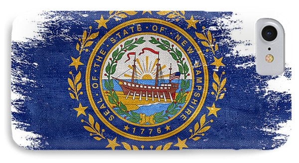 Distressed New Hampshire Flag IPhone Case