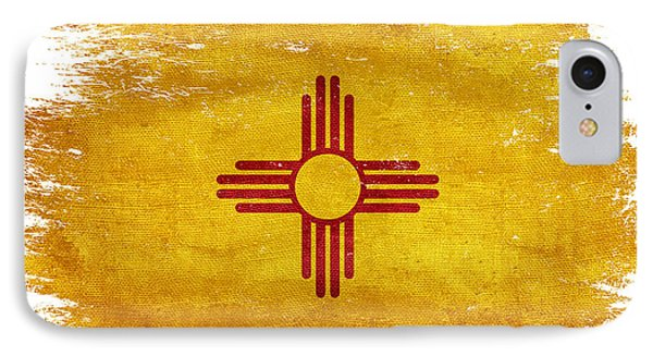 Distressed New Mexico Flag IPhone Case by Jon Neidert