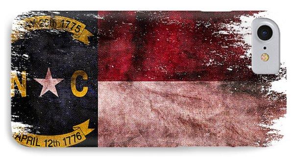 Distressed North Carolina Flag IPhone Case by Jon Neidert
