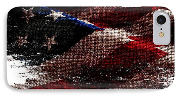 Distressed Old Glory Wide IPhone Case