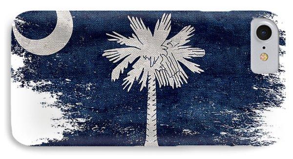 Distressed South Carolina  Flag IPhone Case