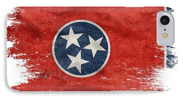 Distressed Tennessee Flag IPhone Case by Jon Neidert