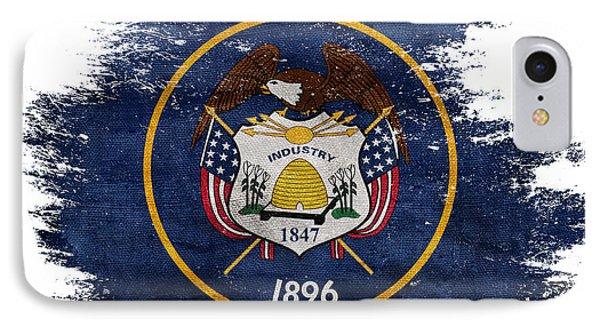 Distressed Utah Flag IPhone Case by Jon Neidert