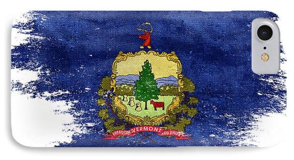 Distressed Vermont Flag IPhone Case by Jon Neidert