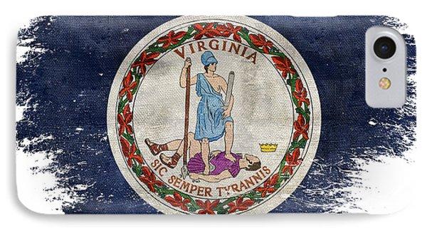 Distressed Virginia Flag IPhone Case by Jon Neidert