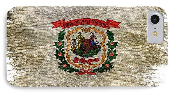 Distressed West Virginia Flag IPhone Case by Jon Neidert
