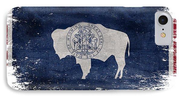 Distressed Wyoming Flag IPhone Case by Jon Neidert