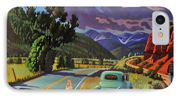 IPhone Case featuring the painting Divergent Paths by Art West