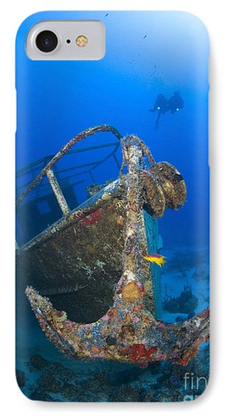 Divers Visit The Pelicano Shipwreck Phone Case by Karen Doody