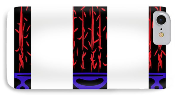 Divided Red And Blue Abstract Design IPhone Case