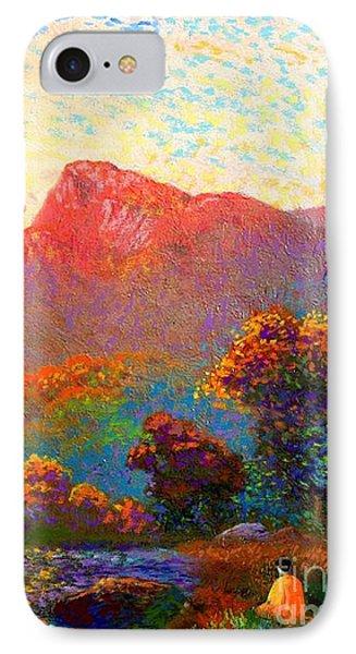 Impressionism iPhone 7 Case -  Buddha Meditation, Divine Light by Jane Small