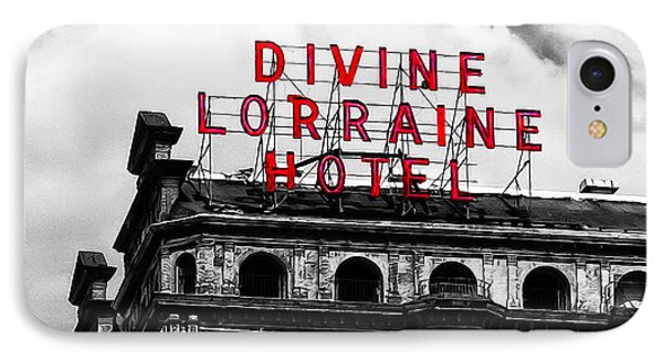 Divine Lorraine Hotel Marquee Phone Case by Bill Cannon